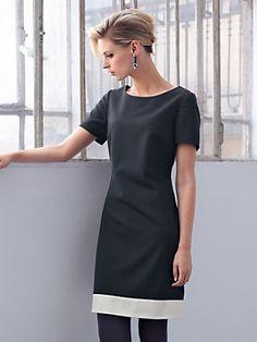 Uta Raasch - Kleid mit 1/2-Arm aus 100% Schurwolle (Größe 36 - 46)
