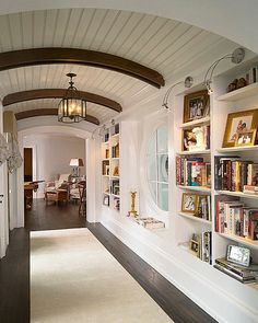 Hallway Arches and Bookcase