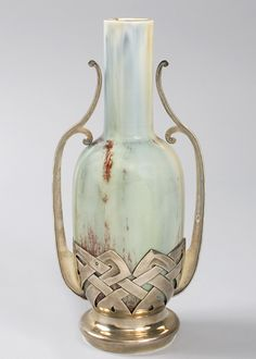 French Art Nouveau Ceramic Vase by Debain