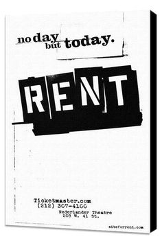 Back Lot Art Rent 11x17 Framed Poster --- My FAVORITE play!