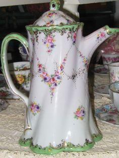 Image detail for -Nippon-esque Handpainted Chocolate Pot