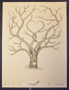 Wedding Guestbook Fingerprint Tree.