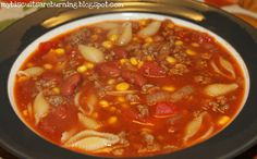 My Biscuits are Burning: Hamburger Minestrone