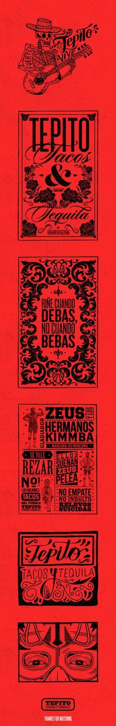 TEPITO Tacos & Tequila http://jrstudioweb.com/diseno-grafico/diseno-de-logotipos/