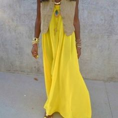 vibrant maxi dress. I want to be this girl this Summer!