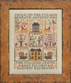Frolic in the Foliage by Blue Ribbon Designs - Cross Stitch Kits & Patterns