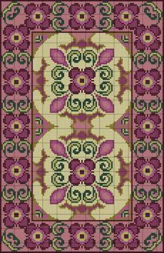 Gallery.ru / Фото #3 - Purple Floral Rug - azteca