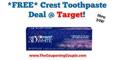AWESOME DEAL! Don't forget to pick yours up this week! *FREE* Crest Toothpaste Deal @ Target!  Click the link below to get all of the details ► http://www.thecouponingcouple.com/free-crest-toothpaste-deal-target/ #Coupons #Couponing #CouponCommunity  Visit us at http://www.thecouponingcouple.com for more great posts!