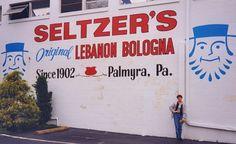 Seltzer's Lebanon Bologna Palmyra PA 1996 Road Trip by Mod Betty / RetroRoadmap.com, via Flickr
