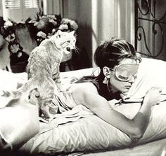 New Yorker Holly Golightly (Audrey Hepburn) with a cat.  Rent-Direct.com - No Broker Fee Apartment Rentals in New York.