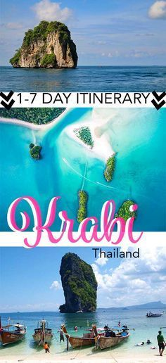 I lived in Krabi, Thailand for over a year. Here's exactly what to do in Krabi for 1-7 days or more and when you visit Krabi! Krabi itinerary | Krabi things to do | Krabi Thailand | Krabi islands | Krabi island hopping | Krabi Beaches | When to go to Krabi