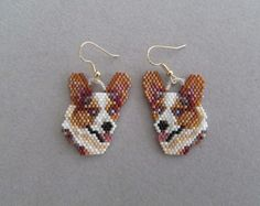 Sammy Schnauzer Beaded Earrings от DsBeadedCrochetedEtc на Etsy
