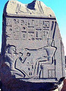 Amon offre la vie-Ânkh à Thoutmosis III