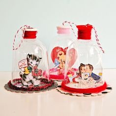 Valentines Day Bell Jars via my so called crafty life. i've been meaning to make these dilly-like for a few years now. love how these turned out!