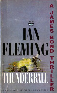 Paperback novel of Ian Fleming's THUNDERBALL.