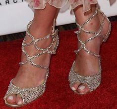 "Nicky Hilton Dazzles in Crystal Jimmy Choo ""Falcon"" Sandals"