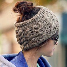 love : The fashion Serratula wool hair band knitted headband-grey