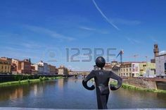 Ponte Vecchio seen from Ponte alle Grazie, Florence, Italy