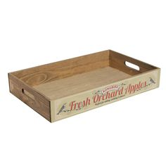 Vintage Wooden Display  Produce Tray - Apples