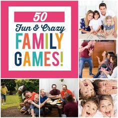 Bored in the car? Need an idea for family night? These fun and crazy family games will help build memories as a family while you laugh and play together!