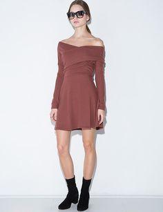 Valerie Brown Off The Shoulder Dress