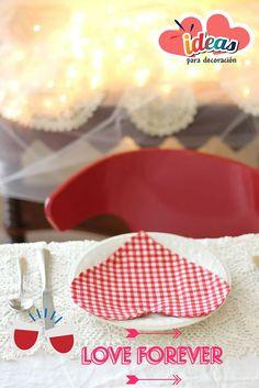 ¡Realiza unas hermosas servilletas para #SanValentin♥!