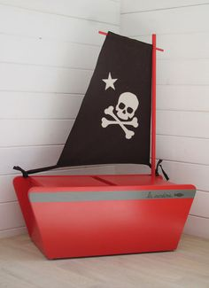 Pirate Ship bench /storage- I would probably turn it into a regular ship. I love that it does double duty.