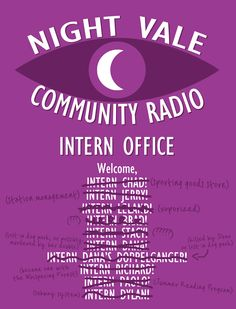 I made a poster for the door of the Night Vale interns' office! - Imgur