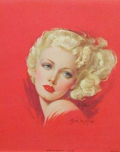 1930s Lady by Zoe Mozert ~ LÁMINAS ANTIGUAS 3-Ideas y Trabajos terminados (pág. 630)