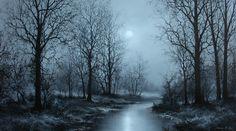 """Evening Creek VIII Sang H. Han Acrylic 2016"""