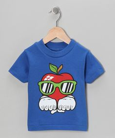 Take a look at this Food Fight Royal Blue 'Food Fight' Apple Tee - Infant, Toddler & Boys on zulily today!