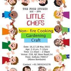 Keep your little one occupied, save yourself from getting fried, let them learn how to cook, for three days let them be away from their book.  @theglobalfoodie