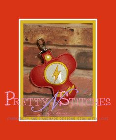 """ITH Lightening Man Spinner Keeper Key Fob Embroidery Design hoop size 4X4, 3X6, 5X5, 5X7 and 6X10 FITS 3"""" Spinner by PrettyNStitches on Etsy"""