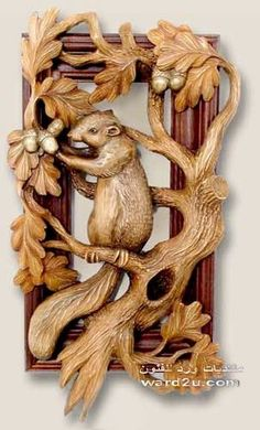 squirrel carving