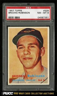 1957 Topps Brooks Robinson ROOKIE RC #328 PSA 8 NM-MT (PWCC)