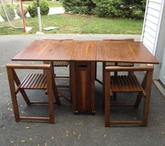 Details About Vintage Mid Century Drop Leaf Table And