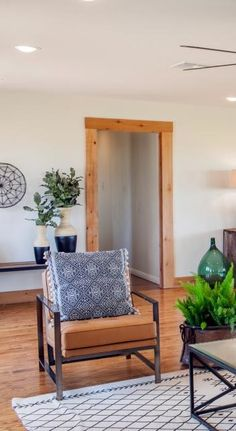 Chair Living Room HGTV Fixer Upper A Family Home Resurrected In Rural Texas Modern Rustic