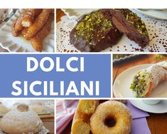 DOLCI TIPICI SICILIANI Italian Memes, Recipe Boards, Sweet Cakes, Food Illustrations, Doughnut, Biscuits, French Toast, Beef, Cooking