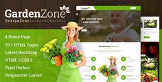 cool GardanZone: Gardning For Flowers,Fruits,Vagitable Planting &amp Landscaping Responsive Template (Web site Templates)