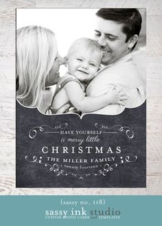 Let Your Heart Be Light  Photo Christmas Card by SassyInkStudio