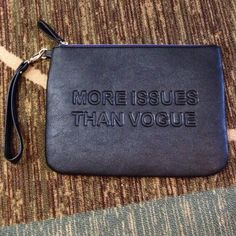 """Spotted while shopping on Poshmark: """"More issues than vogue clutch""""! #poshmark #fashion #shopping #style #Clutches & Wallets"""