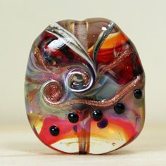 Lampwork Glass Bead Focal Iridescent Hot by StoneDesignsbySheila, $29.00