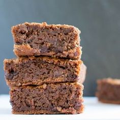 Deliciously gooey, just as brownies should be, these Butternut Squash Brownies have the added virtue of going some way to getting one of your five a day.
