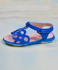 Look what I found on #zulily! Blue Capri Sandal by Jelly the Pug #zulilyfinds