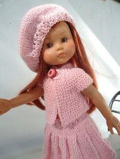 Jupe plissée, tunique,béret pour poupée chéries de corolle | les chéries de corolle | Pinterest | Berets and Html