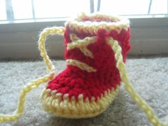 Chi Omega baby booties.  Baby shower gift found on Etsy.