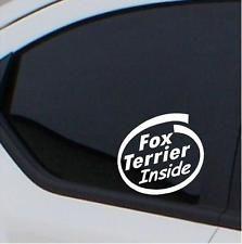 2x Fox Terrier inside stickers  car decal