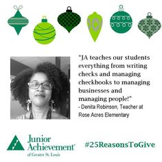 Reason #17: #JA teaches practical skills that #students will use for the rest of their lives! www.fundJA.org/.  #25ReasonsToGive