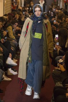Vetements Fall 2018 Ready-to-Wear Fashion Show Collection: See the complete Vetements Fall 2018 Ready-to-Wear collection. Look 24 Fashion 2018, Fashion Week, Runway Fashion, High Fashion, Winter Fashion, Fashion Trends, Fashion Styles, Womens Fashion, Style Photoshoot