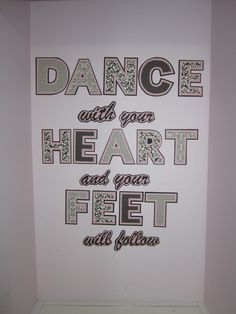 it takes heart to move the feet....